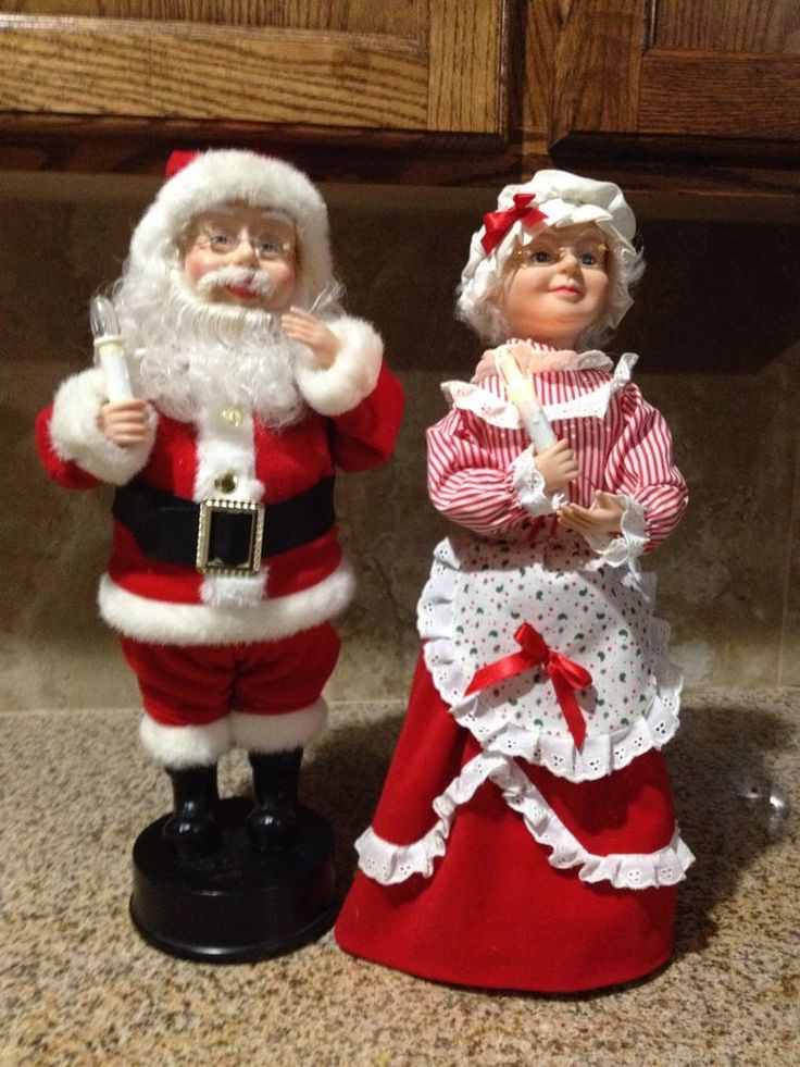 1995 telco mrs claus w babyrocking chairanimated motionette