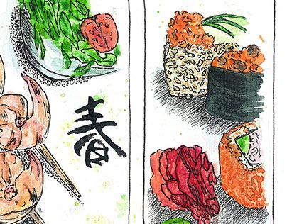 """Check out new work on my @Behance portfolio: """"Food sketch"""" http://on.be.net/1PVVLww"""