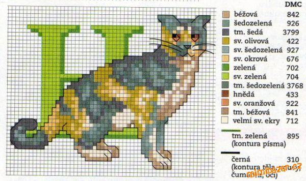Cat Alphabet: H