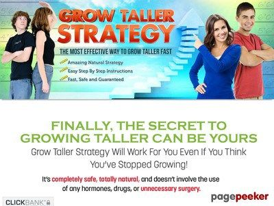 Grow Taller Strategy - How To Grow Taller Naturally!   Product Name: Grow Taller Strategy – How To Grow Taller Naturally!   Click here to get Grow Taller Strategy – How To Grow Taller Naturally! at discounted price while it's still available…    All orders are protected by SSL encryption – the highest industry standard for...