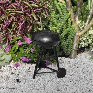 Miniature Fairy Garden BBQ Grill Create a summertime miniature garden by designing a backyard patio complete with a BBQ Grill.