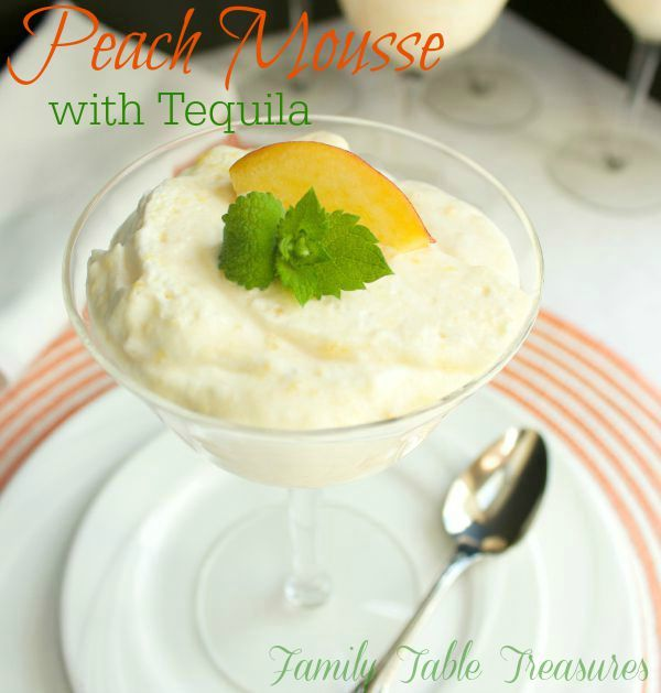 Peach Mousse {with Tequila} - Family Table Treasures