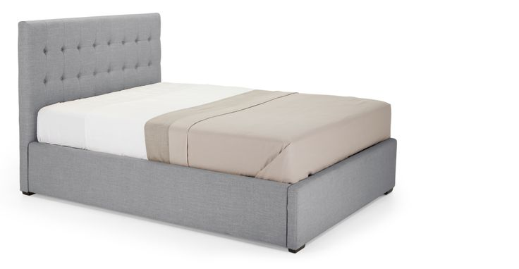 Finlay Double Bed with Storage, Persian Grey