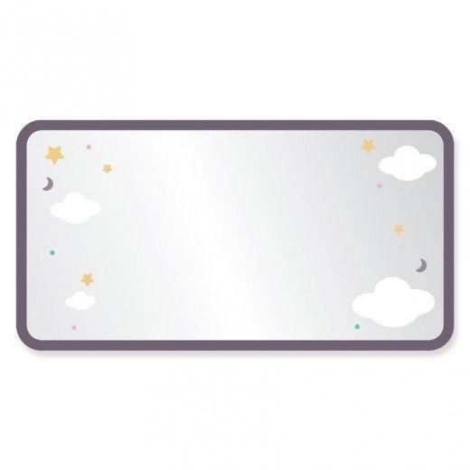 Miroir enfant : cadre nuages