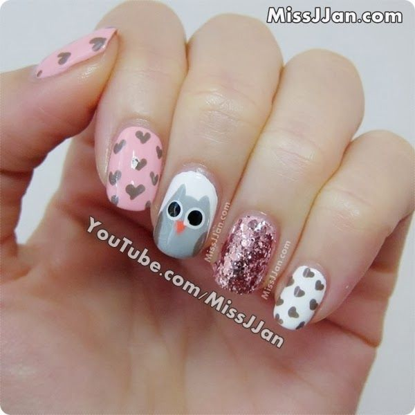 MissJJan's Beauty Blog ♥: Cute Owl Nails