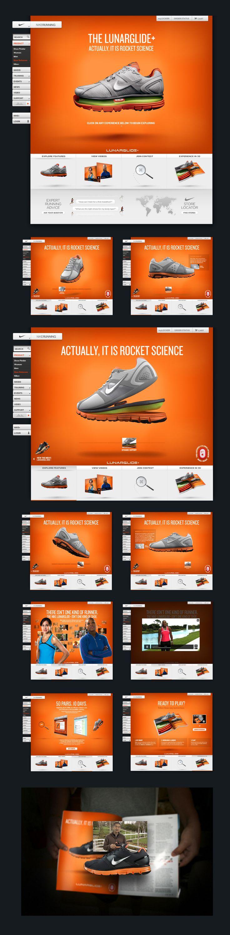 The #Nike LunarGlide+ - Diego Aguilar - Creative Direction #webdesign