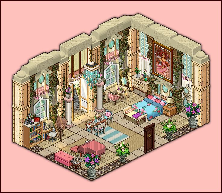20 best images about habbo rooms on pinterest mansions for Pixel people interior designer