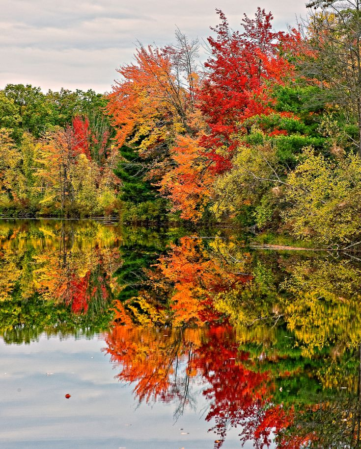 ✯ New Hampshire Fall Lake- Ned to be out there on the kayak!