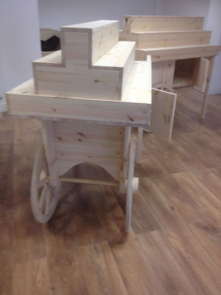 Details About Display Barrow Cart Stand Rustic Solid Pine