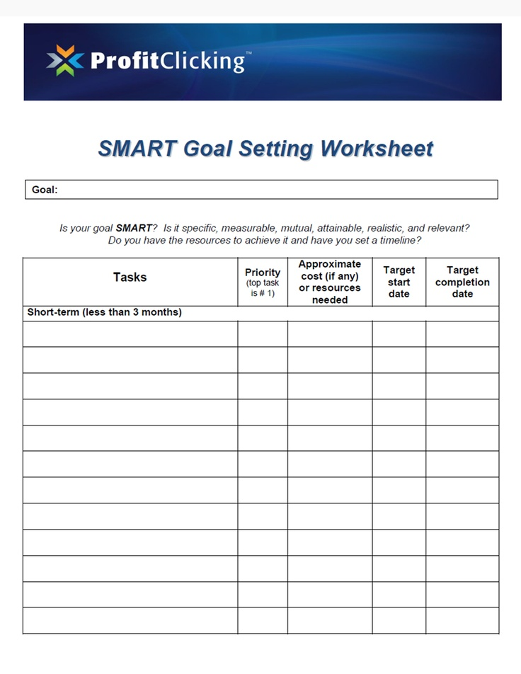 Best 25 Smart Goals Worksheet Ideas On Pinterest Smart