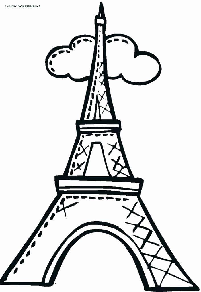 Eiffel Tower Coloring Page Fresh Eiffel Tower Drawing Easy At Getdrawings Eiffel  Tower Drawing Easy, Eiffel Tower, Eiffel Tower Craft