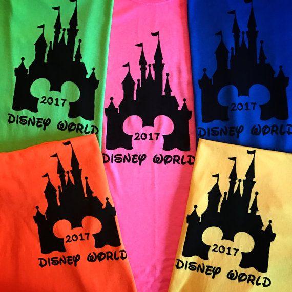 2017 - Disney Family Shirts - Disney Home Shirts - Disney Vacation Tshirts - Mickey Mouse Head Swirl