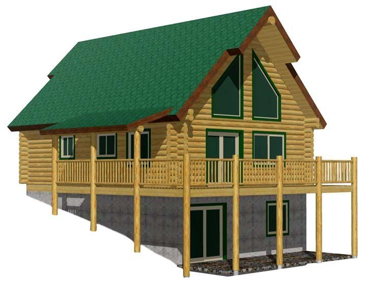 Black bear log home cabin kit lakehouse pinterest for Green cabin kits