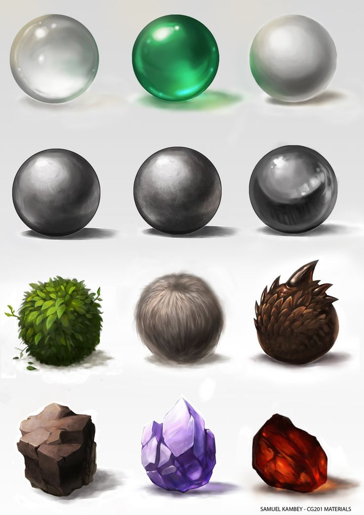 Materials study by jackfrozz.deviantart.com on @deviantART