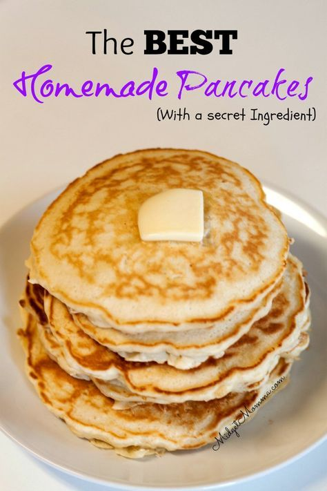 This awesome Homemade Pancake Mix Breakfast Recipe has a secret ingredient that makes this homemade pancake mix recipe amazing. You can make these for breakfast, freeze them or you can make them for dinner, no matter when you make them these homemade pancakes will be a hit!