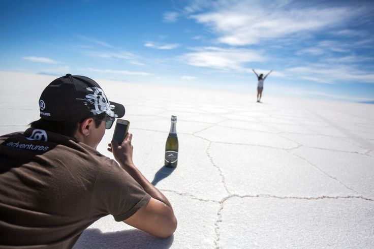 The site that launched countless photo mirages is Salar de Uyuni in Bolivia – the world's largest salt flats.