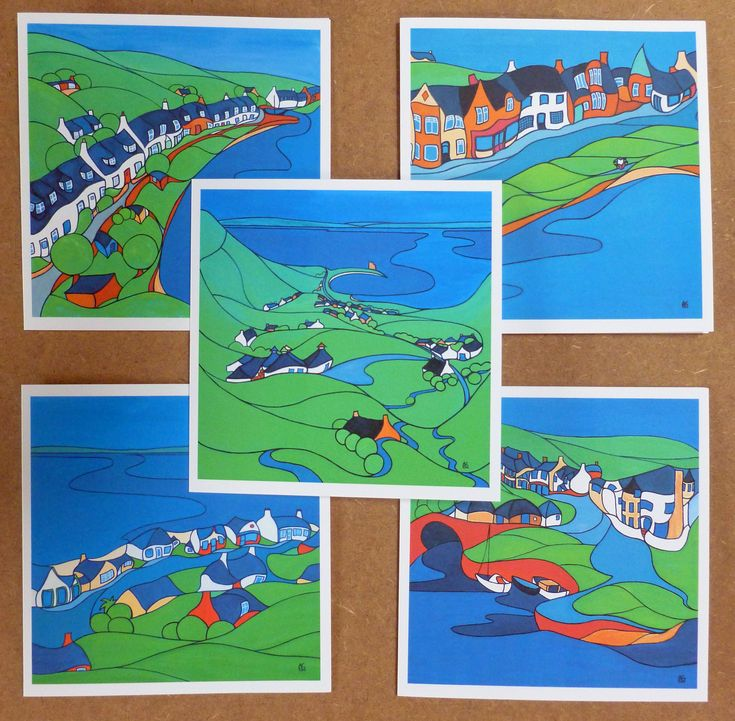 Cards : A Wee Tour of Arran set of 5 cards of the most popular scenes