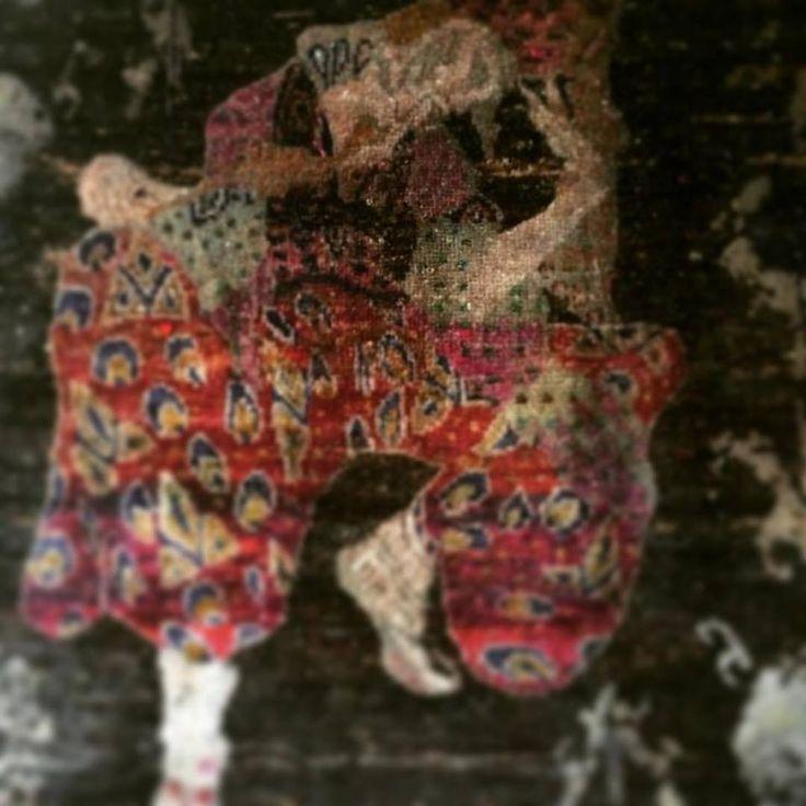 The Russian Seasons. L. Bakst. Costume of Iskander (for Nijinsky). Hand-tufted rug. Silk.