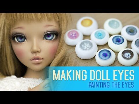 Eye making for dolls - Painting the iris and cornea. Andreja (Nicolle's Dreams) shows how she paints the cornea and iris to get a dreamy effect for her BJD doll eyes. #bjd #eye #make