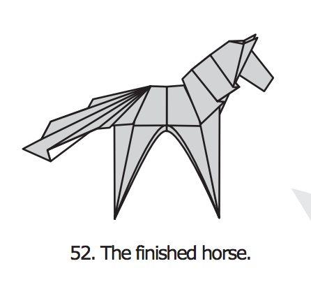 ber ideen zu origami horse auf pinterest origami. Black Bedroom Furniture Sets. Home Design Ideas
