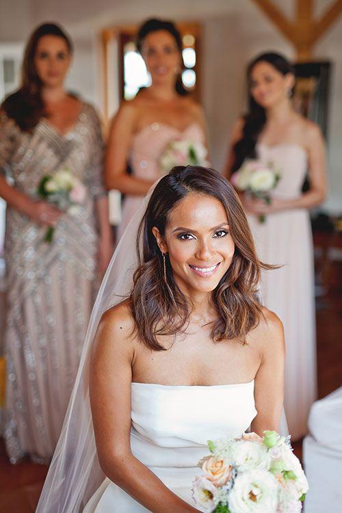 Brides: Lucifer Actress Lesley-Ann Brandt's Wedding Photos: Vermont Real Wedding Ideas