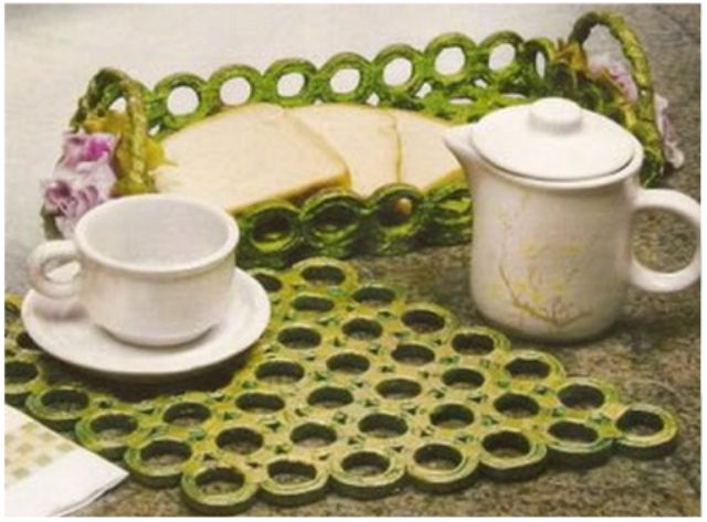 Craft with newspaper - recycling