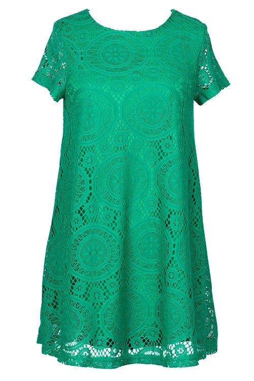 Cupshe Walking On the Sun Lace Casual Dress I love the color and the fact it's not very structured.