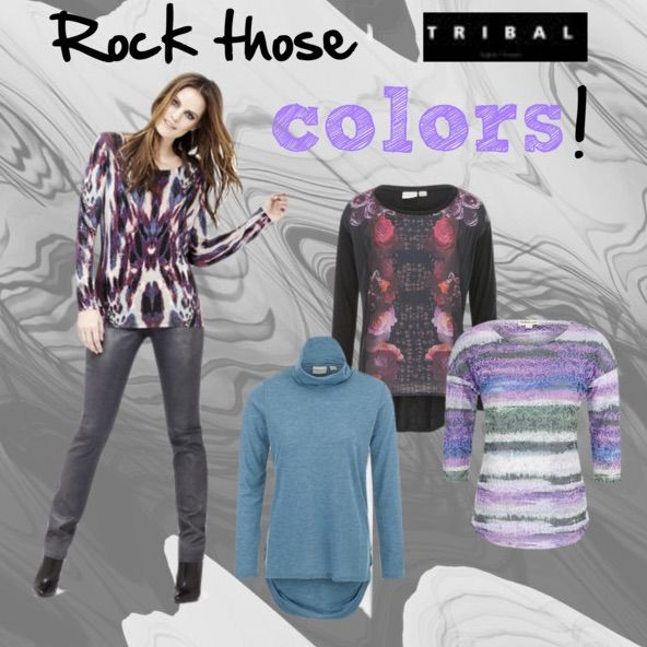 Add some color to your fall with our Tribal.Jeans Urban Graffiti collection! #tribaljeans #tribalsportswear #fall #fallcolors #rock #rocklook #ootd #polyvorecollage