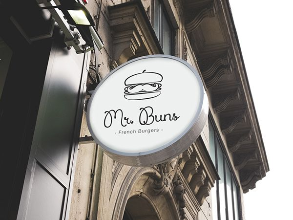 Logo for Mr. Buns, french burger-bar on Behance