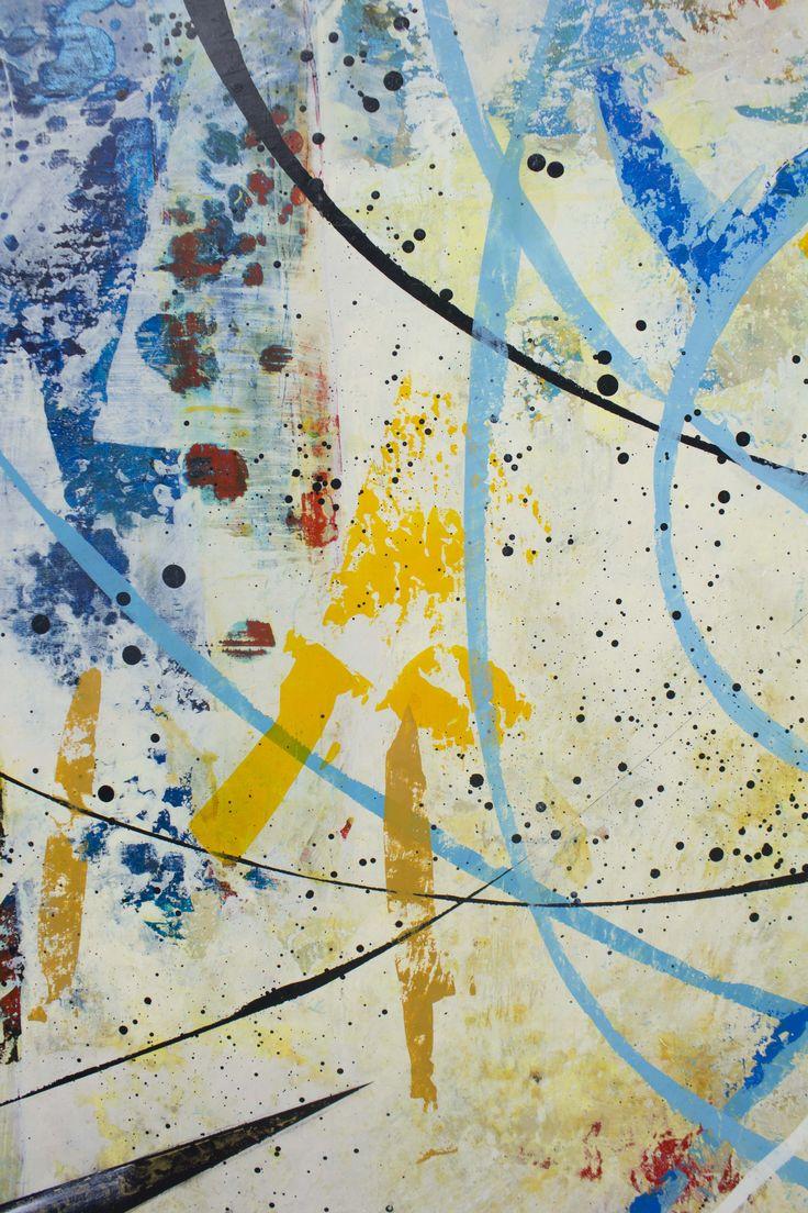 Detalle Título: Señal del aire. Formato:   130 x 90 cm. Técnica: Óleo y acrílico sobre lienzo. Año: 2014