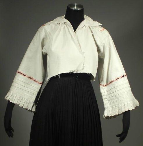 ANTIQUE Polish Folk Costume Blouse ethnic embroidered ...