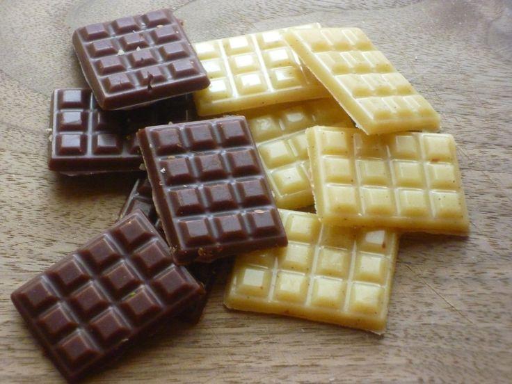 Zutaten für 1 Tafel: 90 g Kakaobutter 95 g weißes Mandelmus 30 g Bio Kakao 40 g Agavendicksaft 1Msp. Gemahlene Vanille 1 Prise Salz Zubereitung: Kakaobutter über dem Wasserbad schmelzen. Vom Herd n...