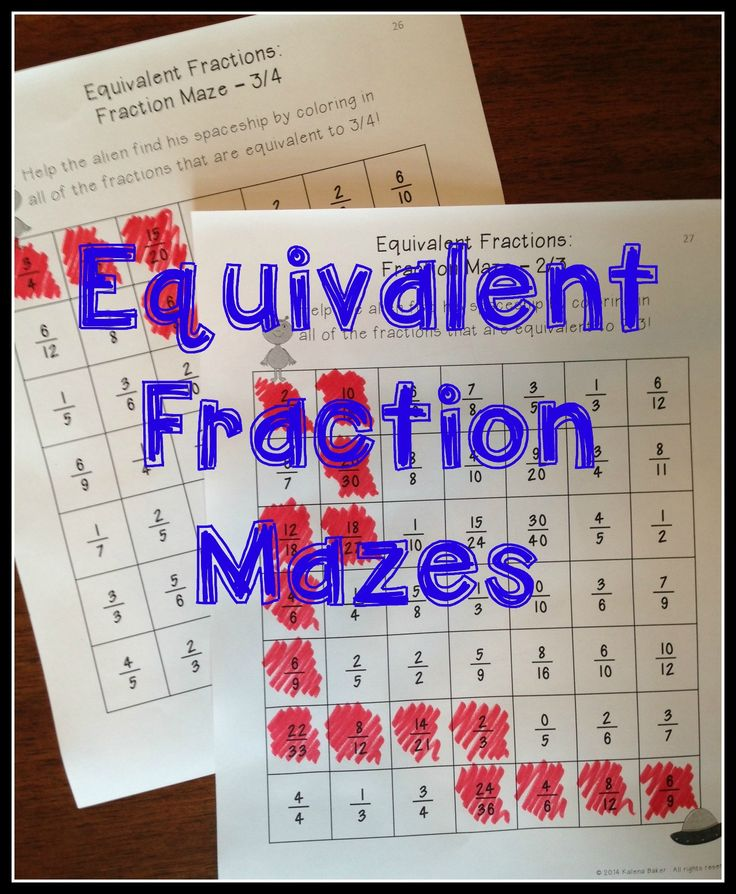 Equivalent Fractions: Centers, Games, And Activities To