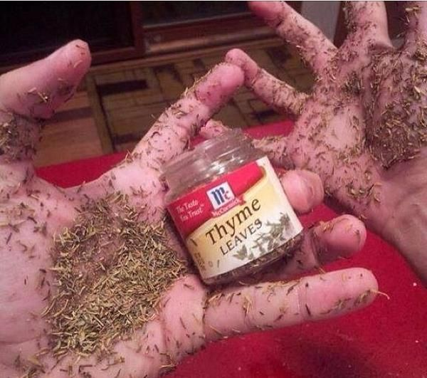 Some people just have way to much thyme on their hands!