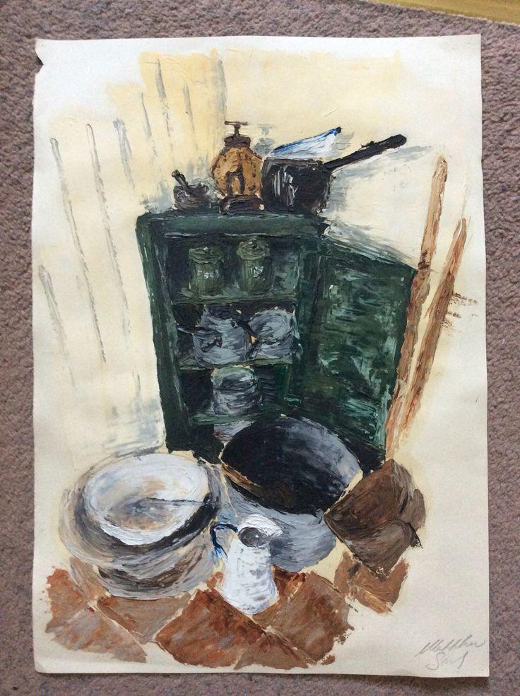 Palette knife oil painting A2 fine art