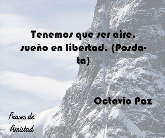 Frases de amor de octavio paz de Octavio Paz