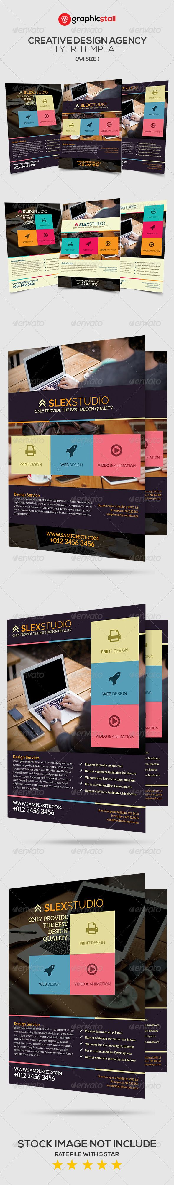 Creative Design Agency Flyer #GraphicRiver FILES INFORMATION: 6 PSD File A4 size: (8,27×11,7 inches) + bleeds Fully Editable Photoshop Layer All of text Editable CMYK with 300 DPI PRINT READY FONT INFORMATION: aleo: .fontsquirrel /fonts/aleo Raleway: .google /fonts/specimen/Raleway STOCK IMAGE: unsplash / ICON: font awesome: fontawesome.io Created: 6 December 13 Graphics Files Included: Photoshop PSD Layered: Yes Minimum Adobe CS Version: CS3 Print Dimensions: 8.3x11.7 Tags agency #animation…