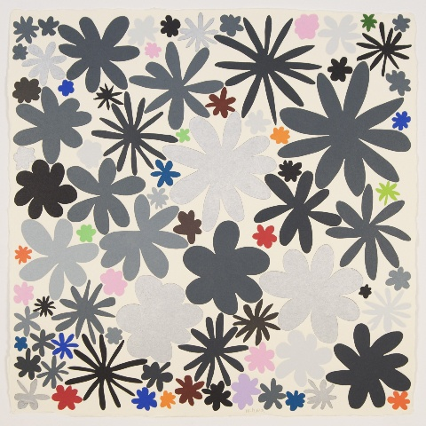 Polly Apfelbaum, Color Field Notes (Gray), 2009, Woodblock print