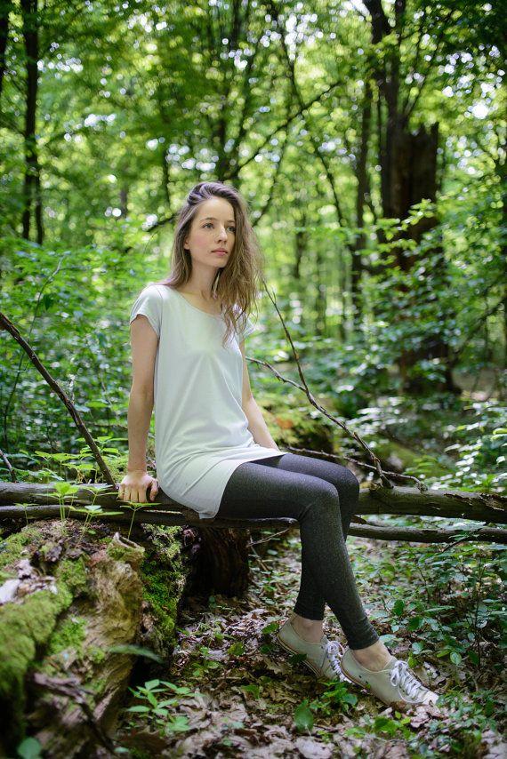 light grey tunic made from organic cotton. Yoga by SISSorganic