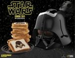 """Star Wars Darth Vader Toaster  Darth Vader Helmet-Shaped ToasterYour kitchen is not yet complete because this sweet Darth Vader helmet-shaped toaster has not yet reached the market. The toaster burns a Darth Vader portrait into one side of the bread and the """"Star Wars"""" logo into the other. Your results may vary with your toasting skills and how you have the toaster settings arranged.   Star Wars Darth Vader Toaster is a pre-order item. Urban-Collector Pre-Order Policies apply.  Secure your…"""