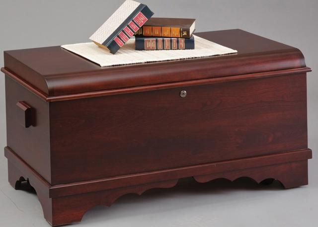 amish cherry wood small waterfall hope chest - Hope Chests