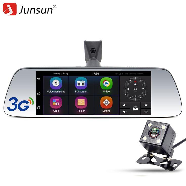"""Junsun Nueva 7 """"especial 3G DVR Del Coche Espejo de La Cámara Android 5.0 con GPS de Automóviles Dvr Dash Cam Video Recorder espejo"""