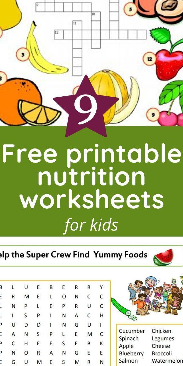 Printable Nutrition Worksheets For Kids Worksheets For Kids Printables Free Kids Kids Nutrition Free printable nutrition worksheets for