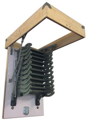 Our new metal scissor loft #ladders with hatch box for easy installation by #tradesmen