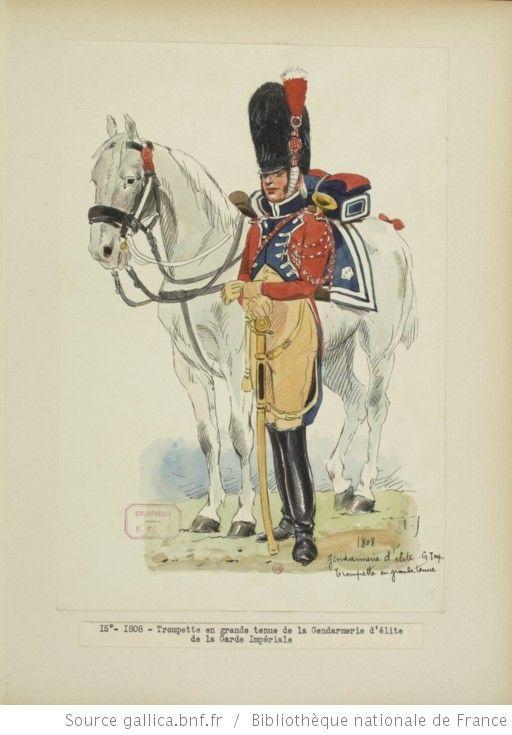 [Grenadiers-gendarmes, gendarmerie d'élite de la garde des consuls et de la garde impériale, 1793-1815 / Notes et aquarelles par E. Fort.] - 29