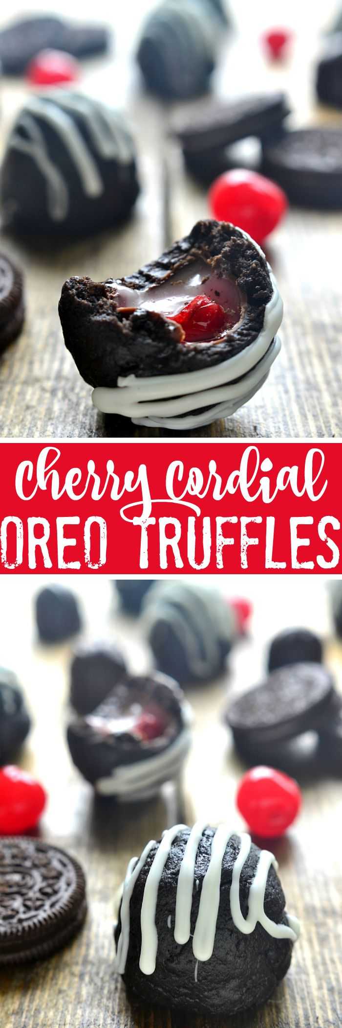 Cherry Cordial Oreo Truffles are the perfect sweet treat...and made with just 4 ingredients!