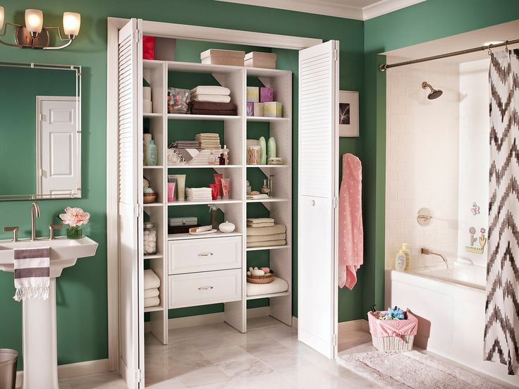 Small Bathroom Storage Closet : The best images about bathrooms linen closets on