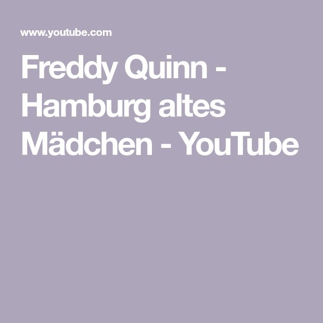 Freddy Quinn Alter
