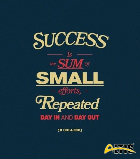 Hergün spor yapın çünkü başarı hergün tekrarlanan küçük çabaların toplamıdır.