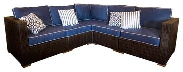 outdoor L-shaped Sectional Sofa | ... Shaped Sectional Sofa Patio Furniture traditional-outdoor-sofas